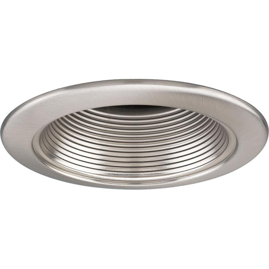 Shop progress lighting brushed nickel baffle recessed light trim progress lighting brushed nickel baffle recessed light trim fits housing diameter 4 in aloadofball