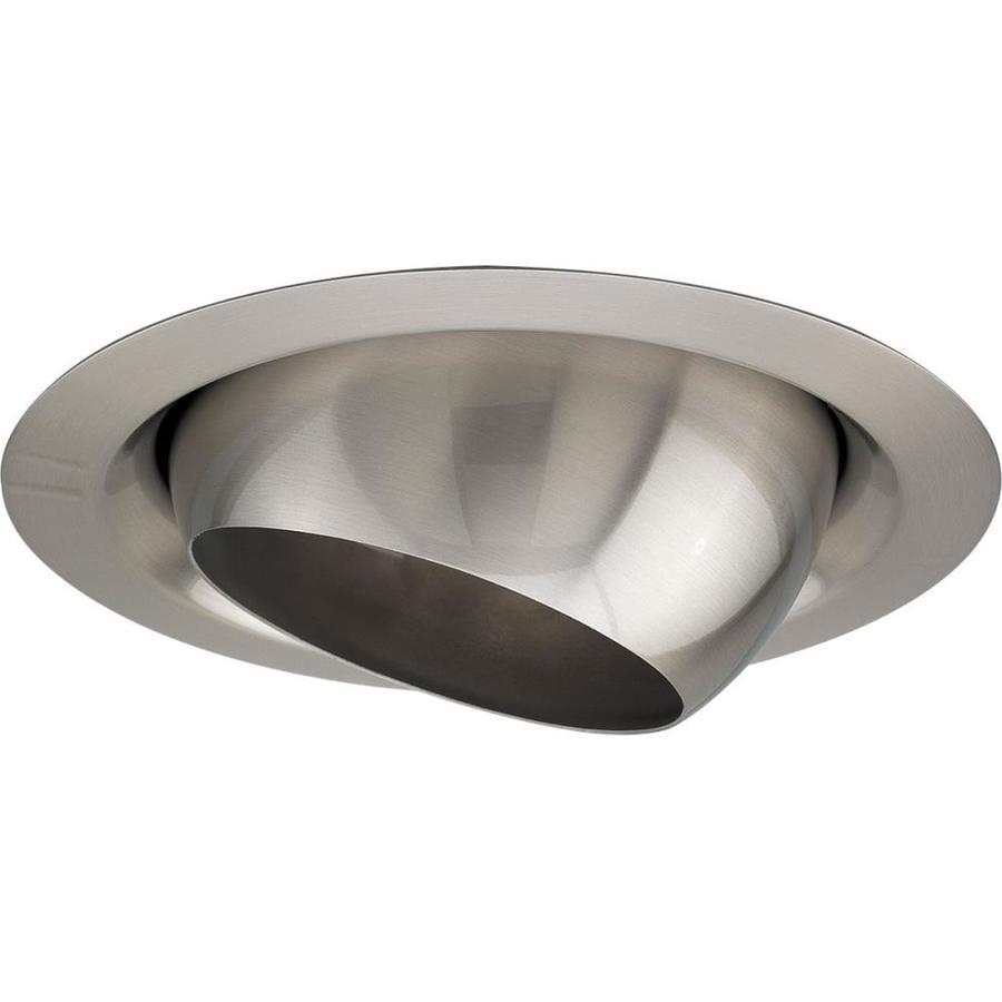 Progress Lighting Brushed Nickel Eyeball Recessed Light Trim (Fits Housing Diameter: 6-in)