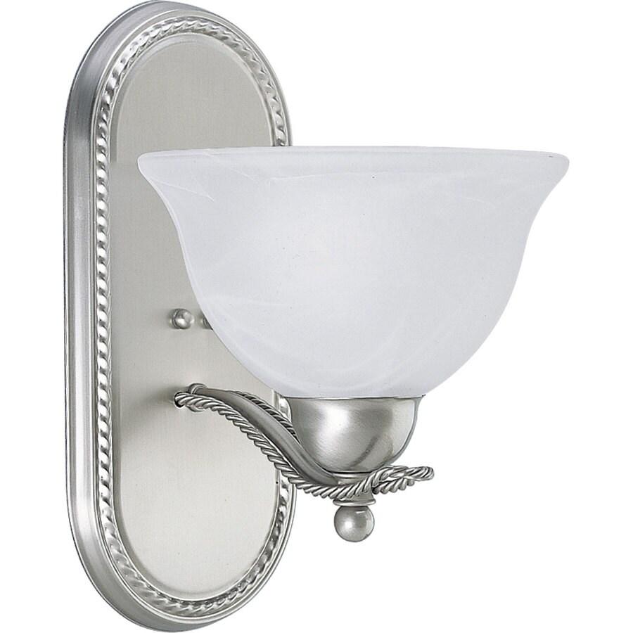 Progress Lighting Avalon 1-Light 12-in Brushed Nickel Bowl Vanity Light