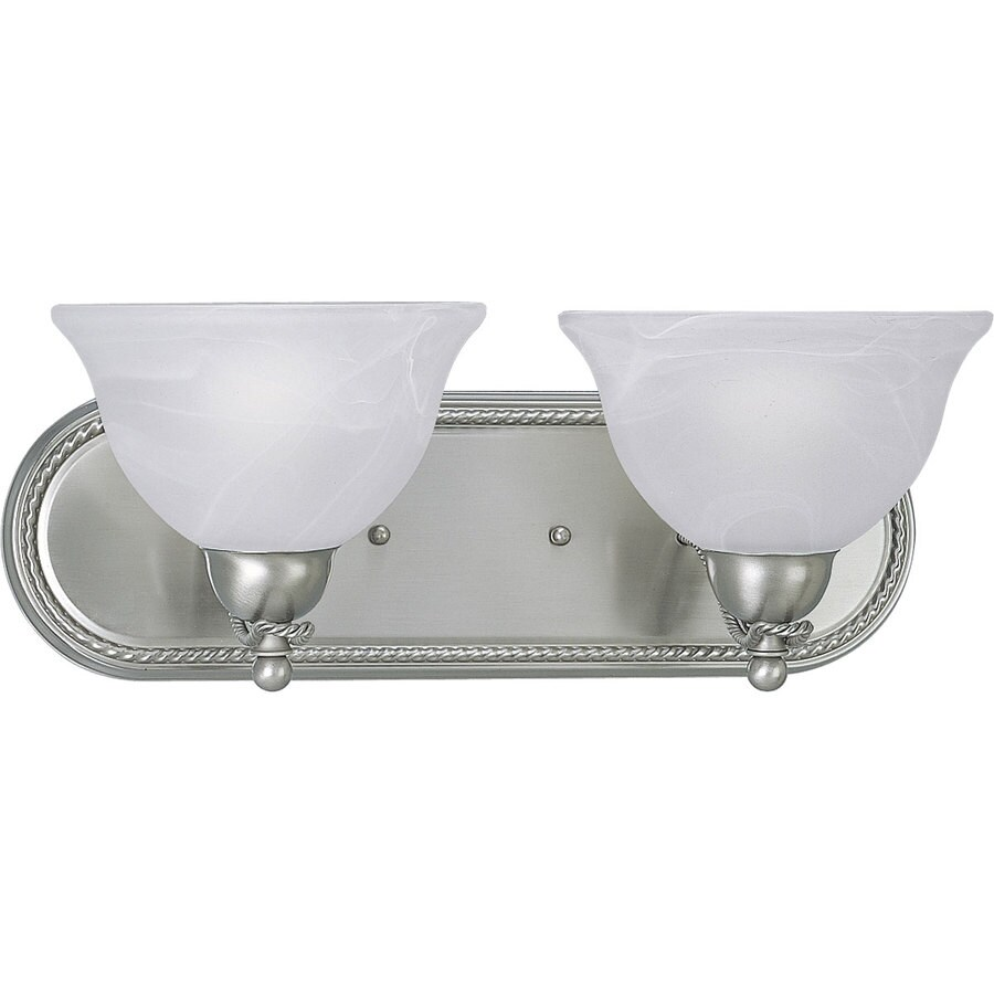 Progress Lighting Avalon 2-Light Brushed Nickel Bowl Vanity Light