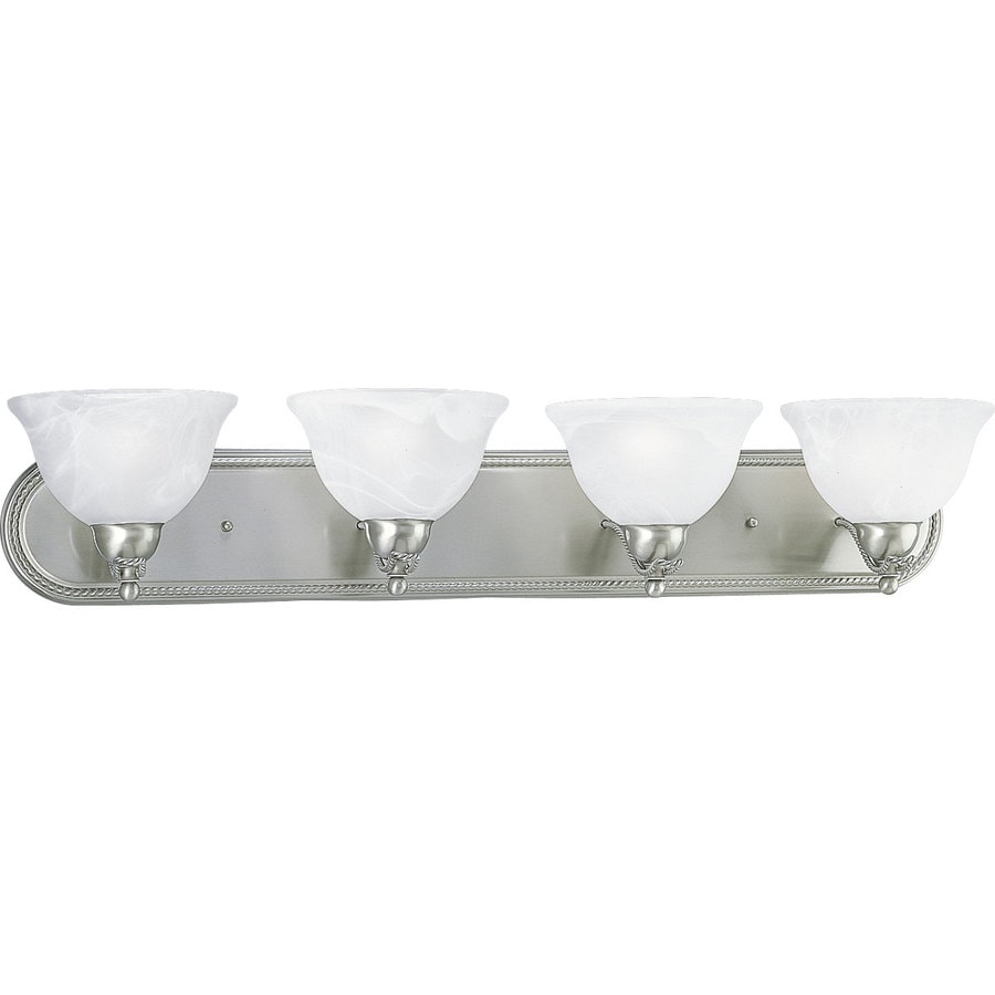 Progress Lighting Avalon 4-Light 7-in Brushed Nickel Bowl Vanity Light