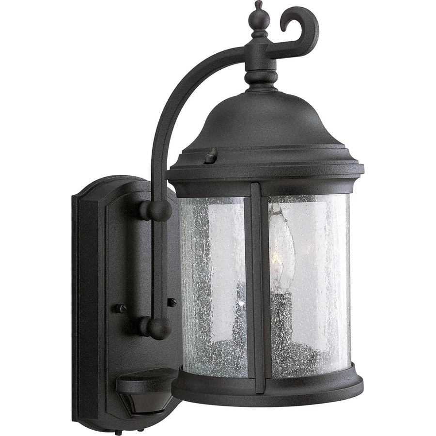 Shop Progress Lighting Ashmore 15 In H Textured Black Motion Activated Outdoor Wall Light At