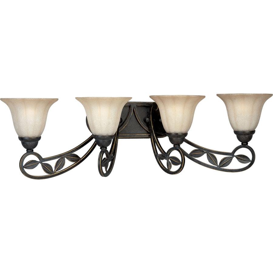 Progress Lighting Le Jardin 4-Light 10-in Espresso Bell Vanity Light