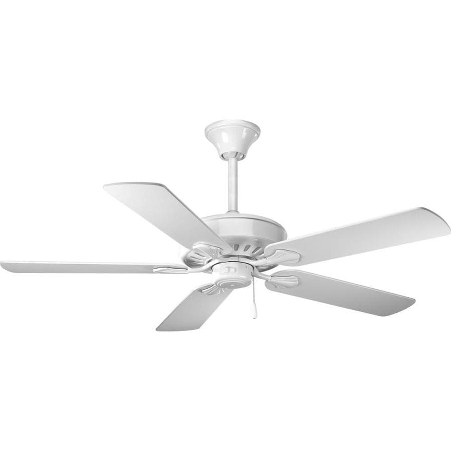 Progress Lighting AirPro Performance 52-in White Indoor Downrod Or Close Mount Ceiling Fan ENERGY STAR