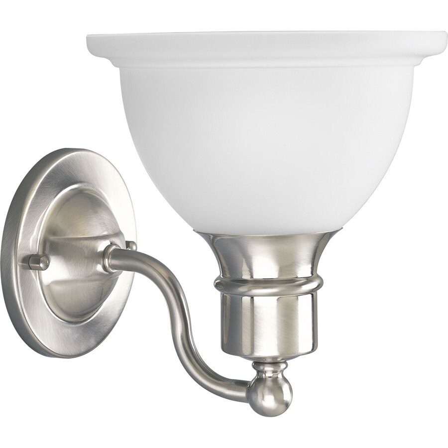 Progress Lighting Madison 1-Light 8-in Brushed nickel Bowl Vanity Light