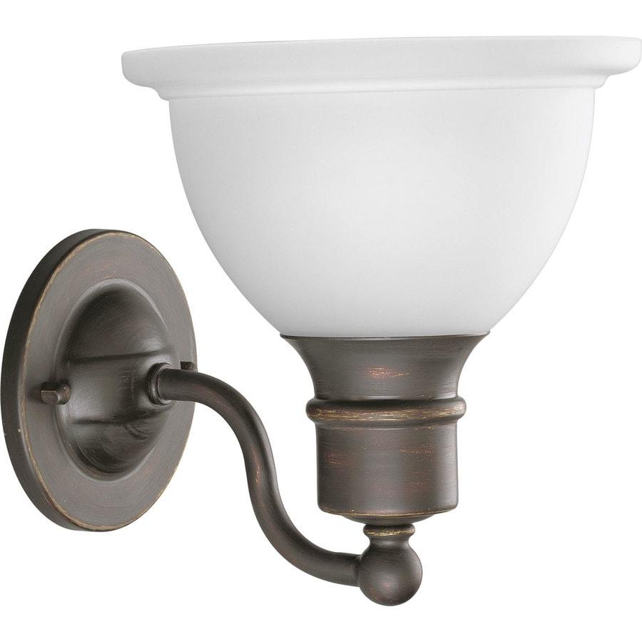 Progress Lighting Madison 1-Light 8-in Antique bronze Bowl Vanity Light