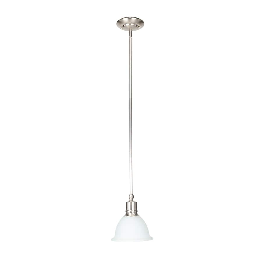 Progress Lighting Madison 7.5-in Brushed Nickel Mini Etched Glass Dome Pendant
