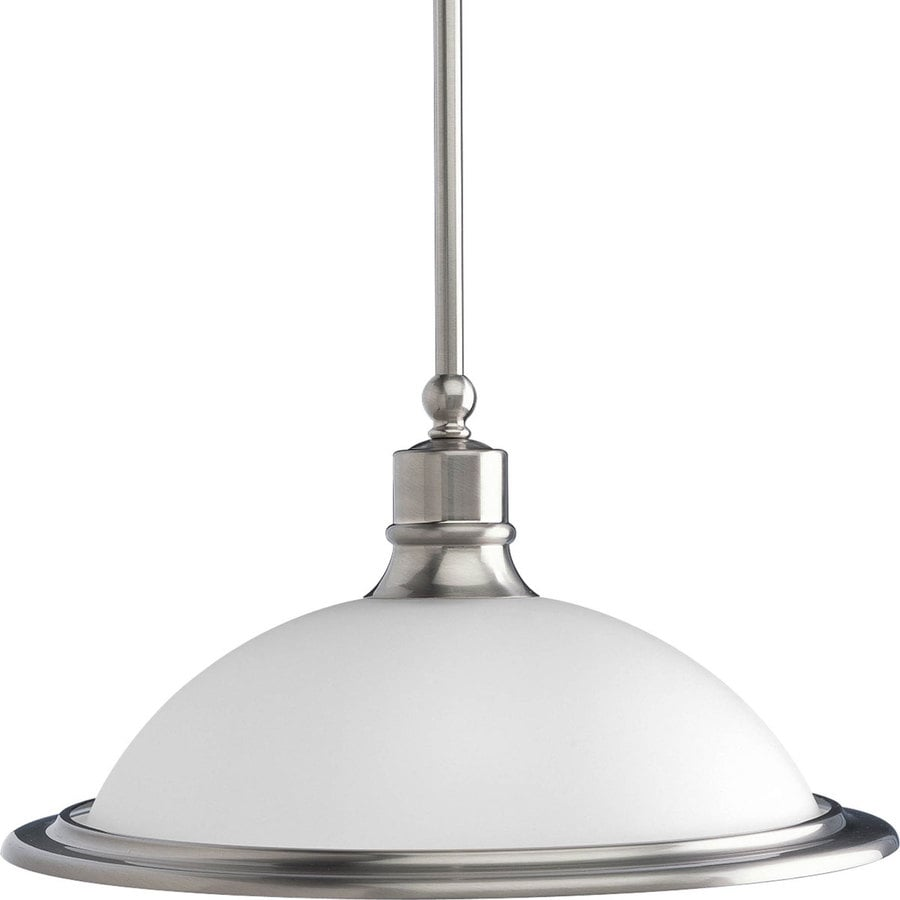 Shop Progress Lighting Madison Brushed Nickel Mini Etched Glass Dome
