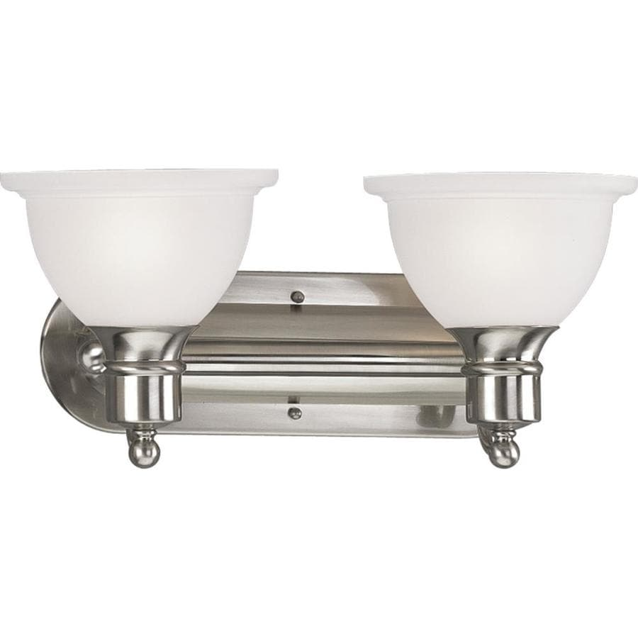 Progress Lighting Madison 2-Light 8-in Brushed nickel Bowl Vanity Light