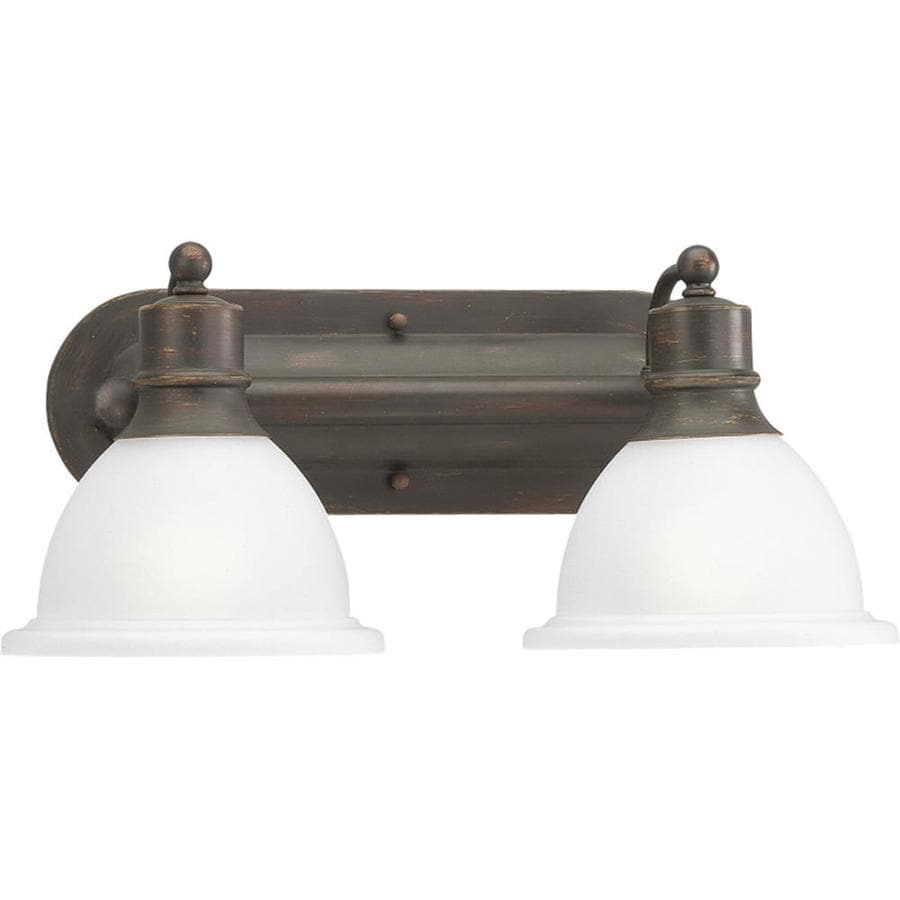 Progress Lighting Madison 2-Light 8-in Antique Bronze Bowl Vanity Light