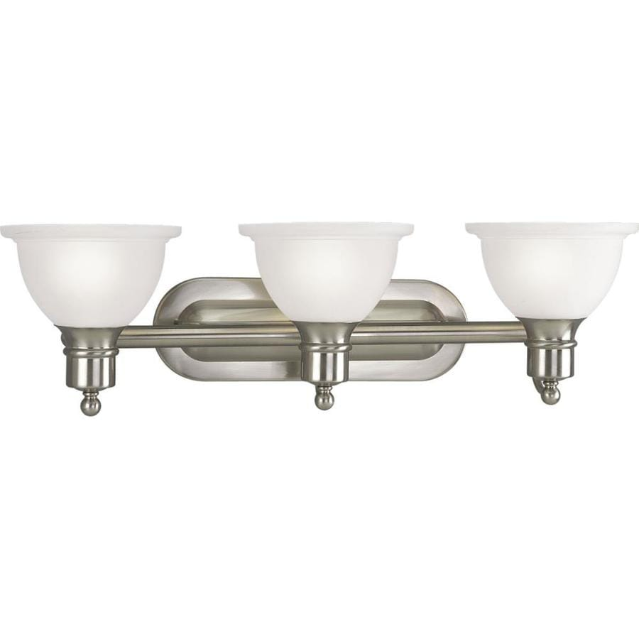Shop Progress Lighting Madison 3 Light 8 In Brushed Nickel Bowl Vanity Light