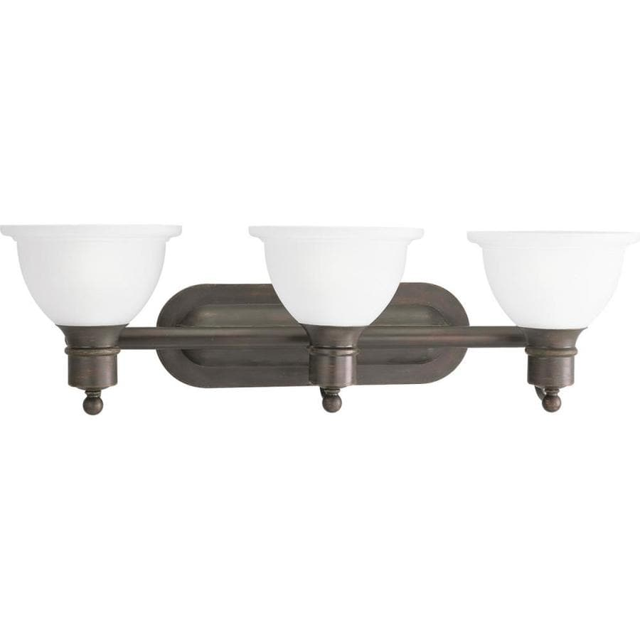 Progress Lighting Madison 3-Light 8-in Antique Bronze Bowl Vanity Light