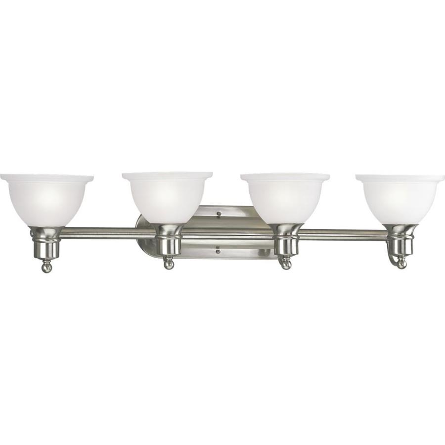 Shop Progress Lighting Madison 4 Light 8 In Brushed Nickel Bowl Vanity Light