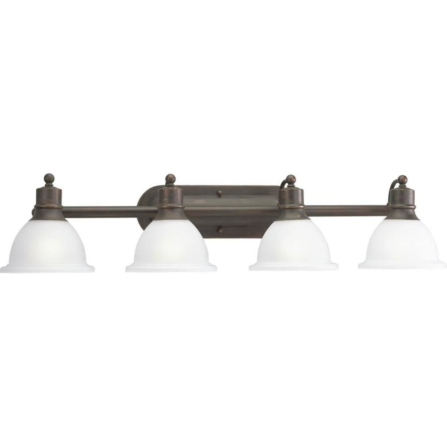 Progress Lighting Madison 4-Light 8-in Antique bronze Bowl Vanity Light
