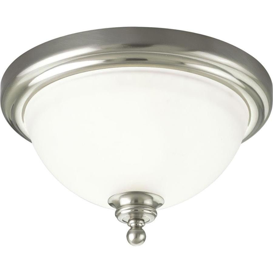 Progress Lighting Madison 12-in W Brushed Nickel Flush Mount Light