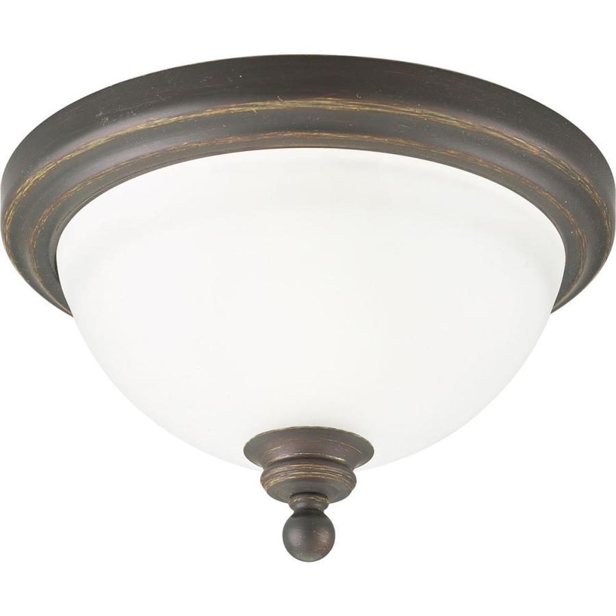 Progress Lighting Madison 12-in W Antique Bronze Flush Mount Light