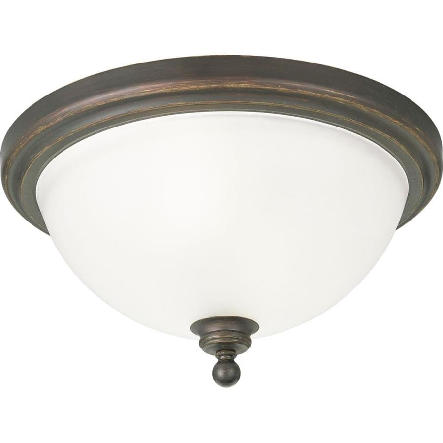Progress Lighting Madison 15.75-in W Antique Bronze Flush Mount Light