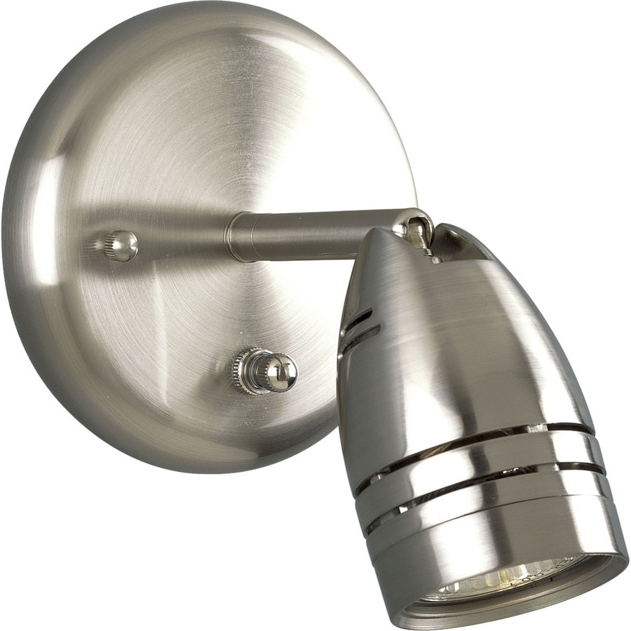 Progress Lighting Directional 5 In W 1 Light Brushed Nickel Directional Wall  Sconce