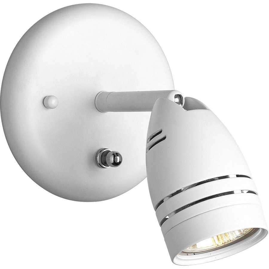 Progress Lighting Directional 5-in W 1-Light White Directional Wall Sconce