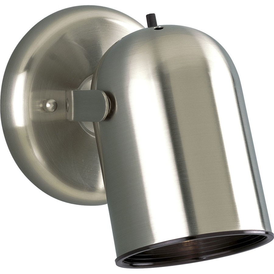 Progress Lighting Directional 5-in W 1-Light Brushed Nickel Directional Hardwired Wall Sconce