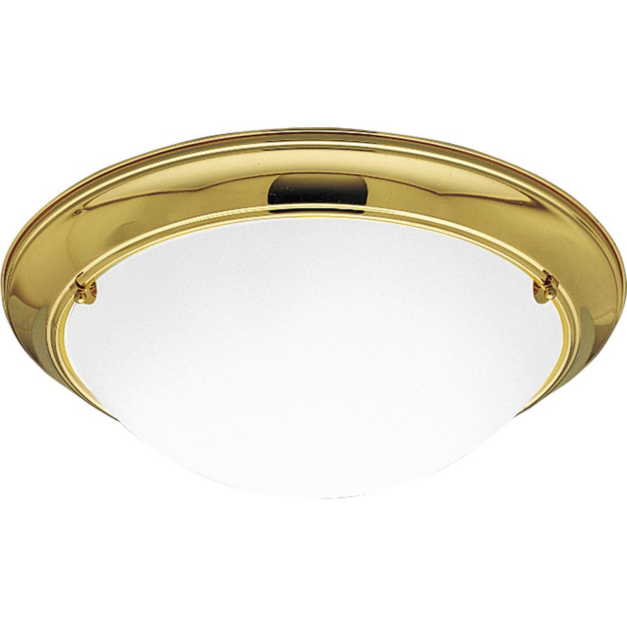 Progress Lighting Eclipse 19.375-in W Polished Brass Standard Flush Mount Light
