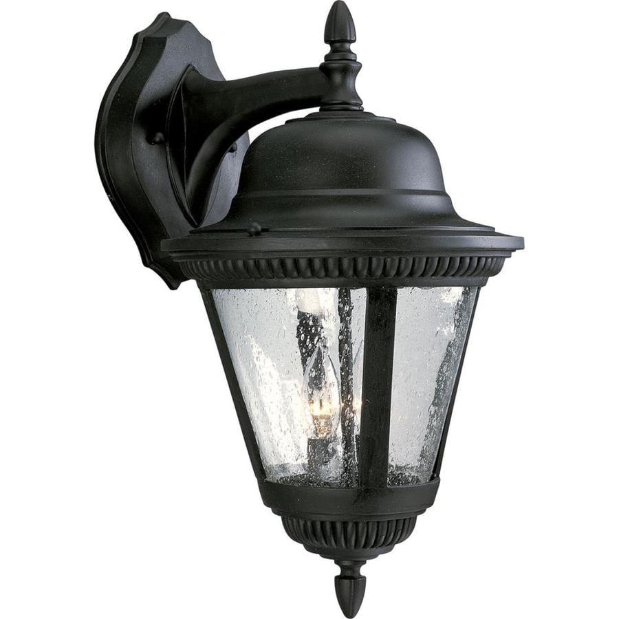 Progress Lighting Westport 18.75-in H Textured Black Outdoor Wall Light