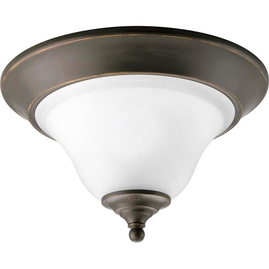 Progress Lighting Trinity 12.5-in W Antique bronze Flush Mount Light