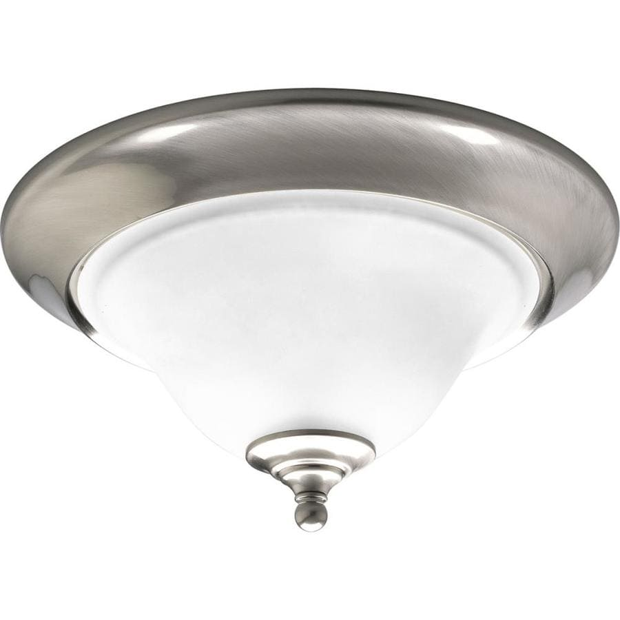 Progress Lighting Trinity 15-in W Brushed Nickel Flush Mount Light