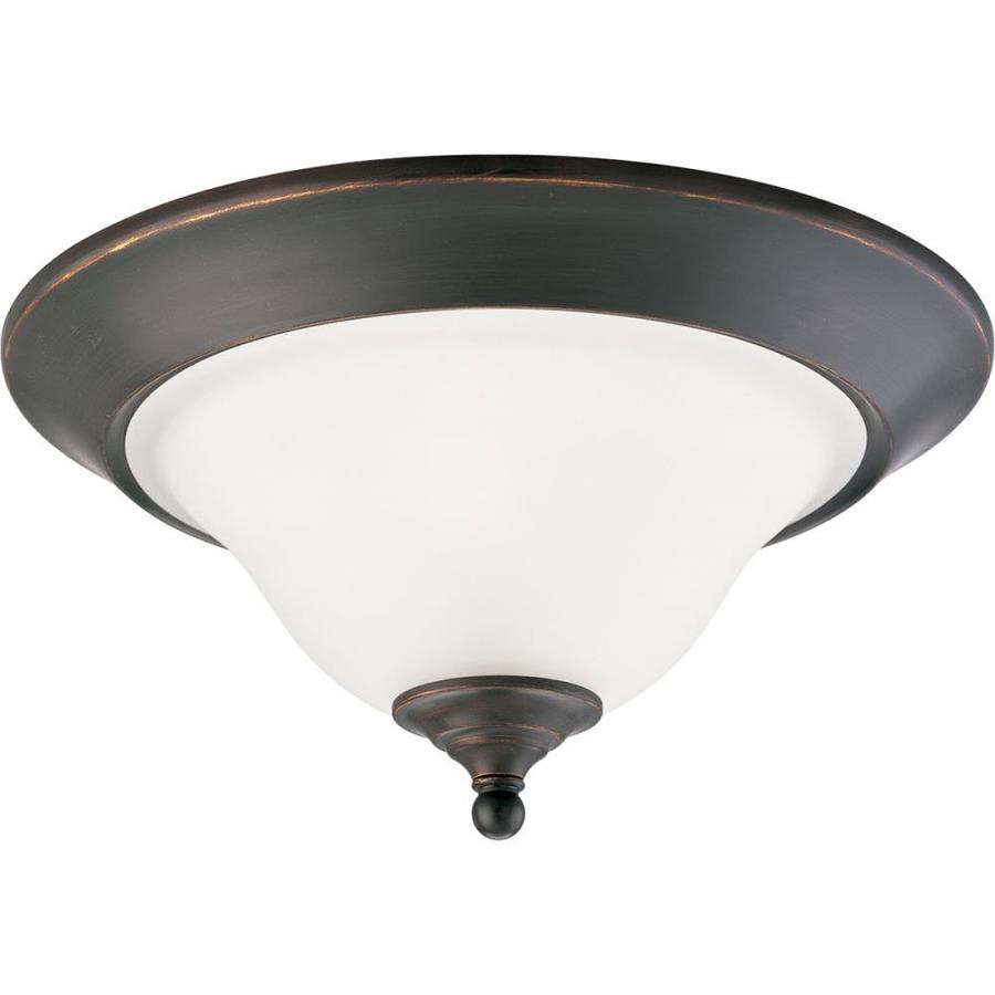 Progress Lighting Trinity 15-in W Antique Bronze Flush Mount Light