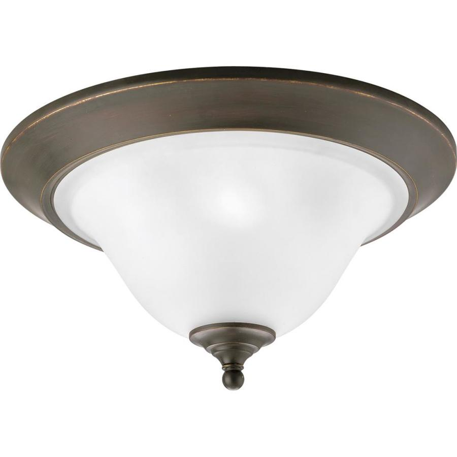 Progress Lighting Trinity 17-in W Antique Bronze Flush Mount Light