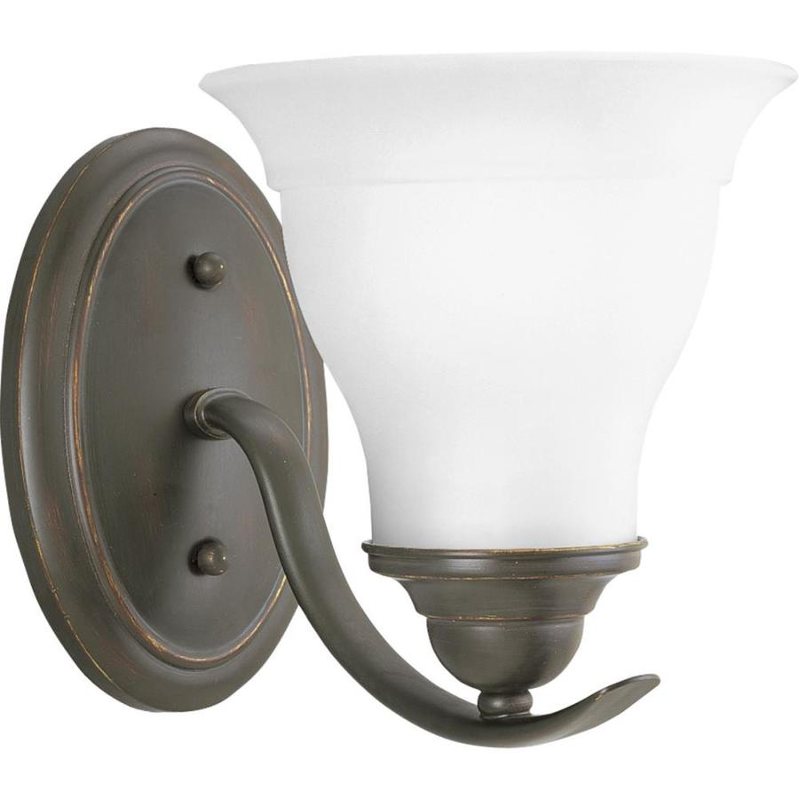 Progress Lighting Trinity 1-Light 7.5-in Antique Bronze Bell Vanity Light