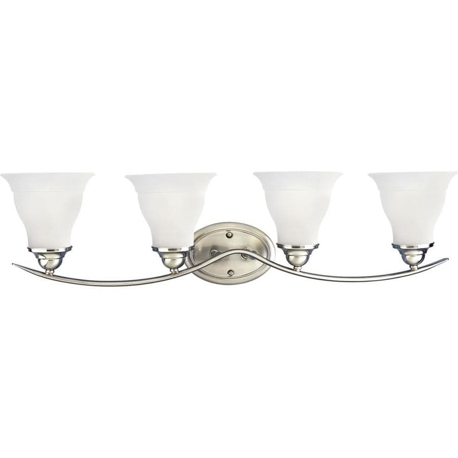 Progress Lighting Trinity 4-Light 8.125-in Brushed Nickel Bell Vanity Light