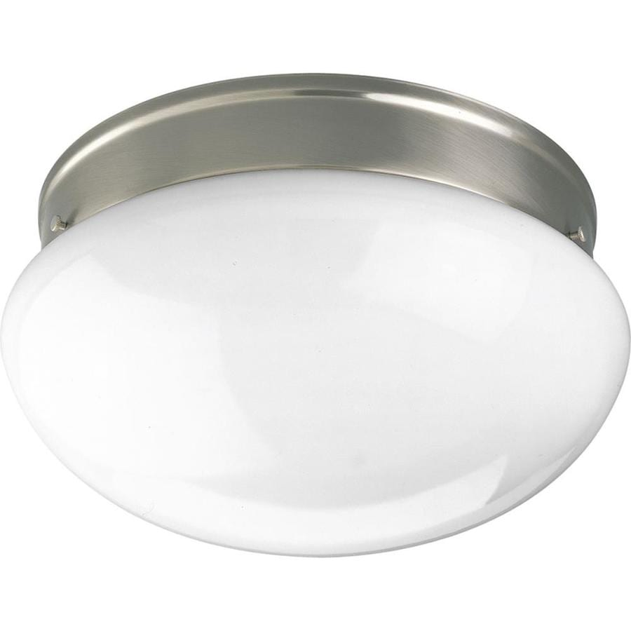 Progress Lighting Fitter 11.75-in W Brushed Nickel Flush Mount Light