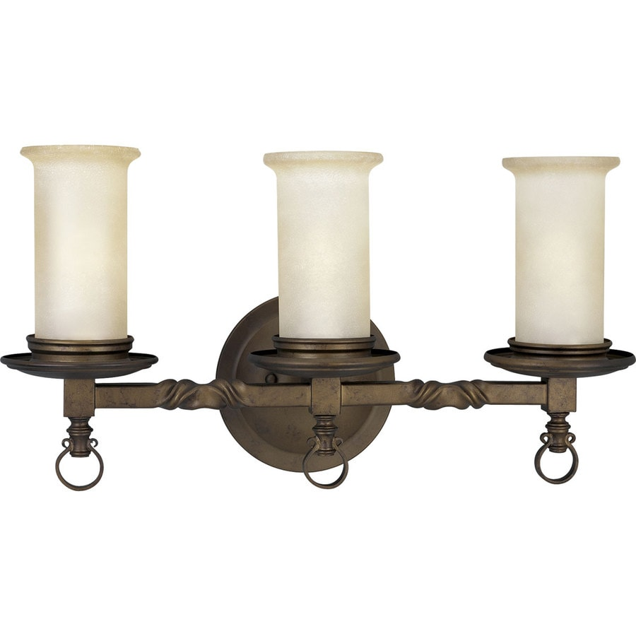 Progress Lighting Santiago 3-Light 11-in Roasted Java Bell Vanity Light