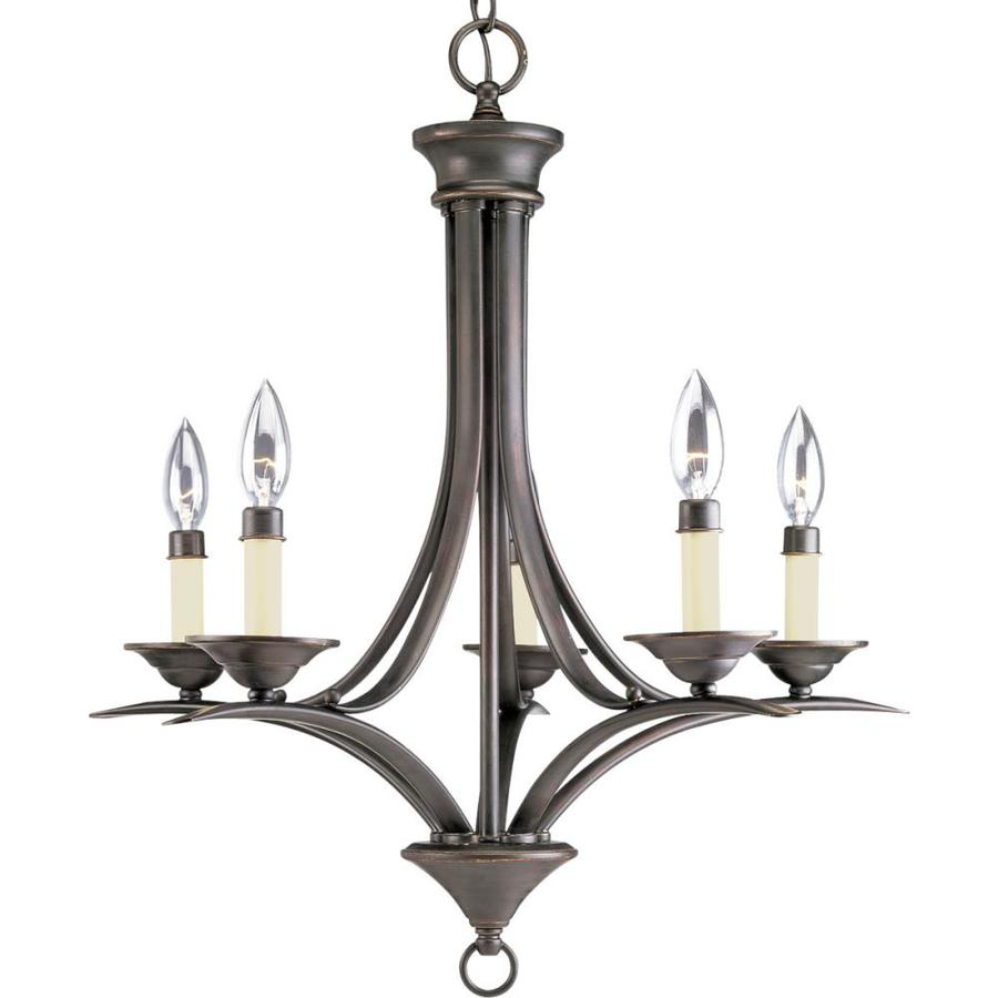 Progress Lighting Trinity 21-in 5-Light Antique Bronze Candle Chandelier