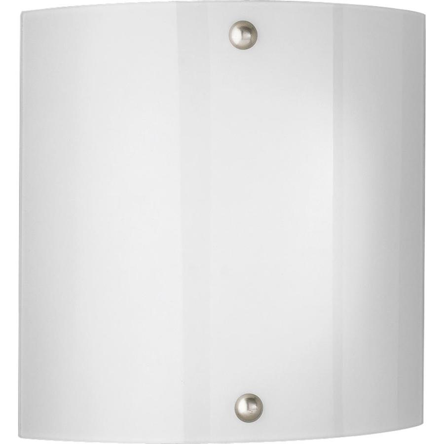 Progress Lighting 11.25-in W 2-Light Brushed Nickel Pocket Wall Sconce