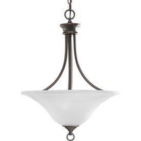 Progress Lighting Trinity 18-in 3-Light Antique bronze Etched Glass Shaded Chandelier  sc 1 st  Loweu0027s & Shop Progress Lighting Trinity Collection All Finishes at Lowes.com azcodes.com