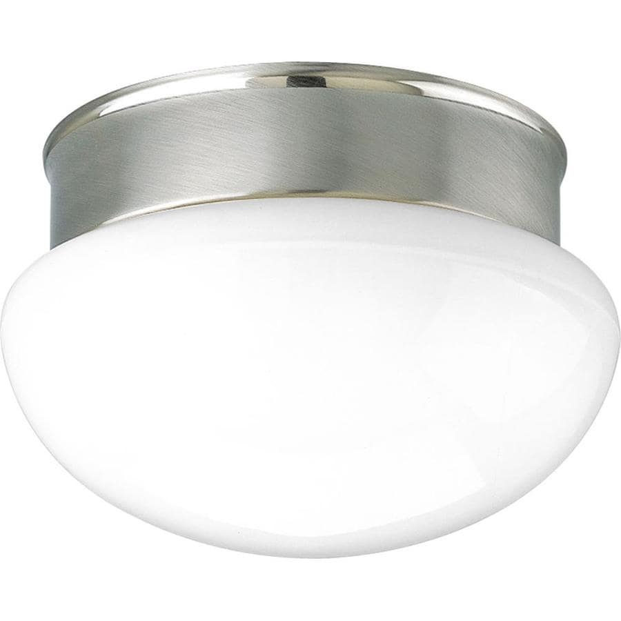 Progress Lighting Fitter 9.5-in W Brushed Nickel Flush Mount Light