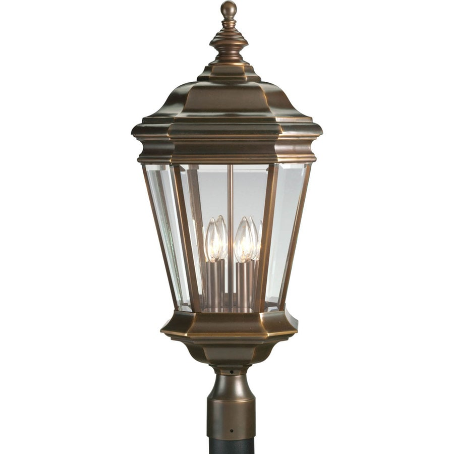 Progress Lighting Crawford 28.37-in H Oil Rubbed Bronze Post Light