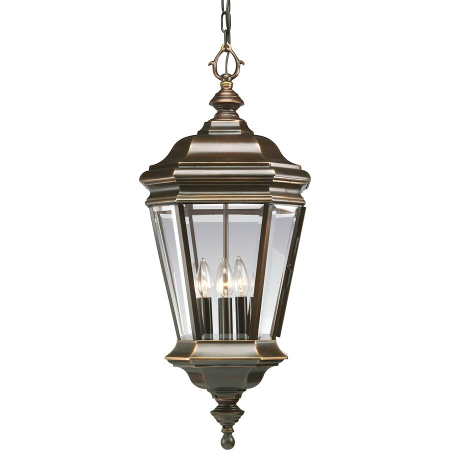 Progress Lighting Crawford 29.37-in Oil-Rubbed Bronze Outdoor Pendant Light