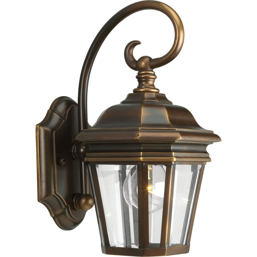 Progress Lighting Crawford 12.5-in H Oil Rubbed Bronze Outdoor Wall Light