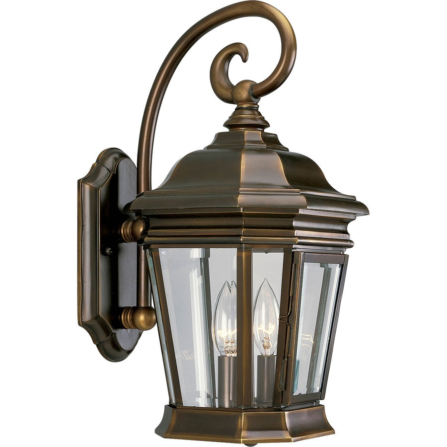 Shop Progress Lighting Crawford H Oil Rubbed Bronze Outdoor Wall Light At