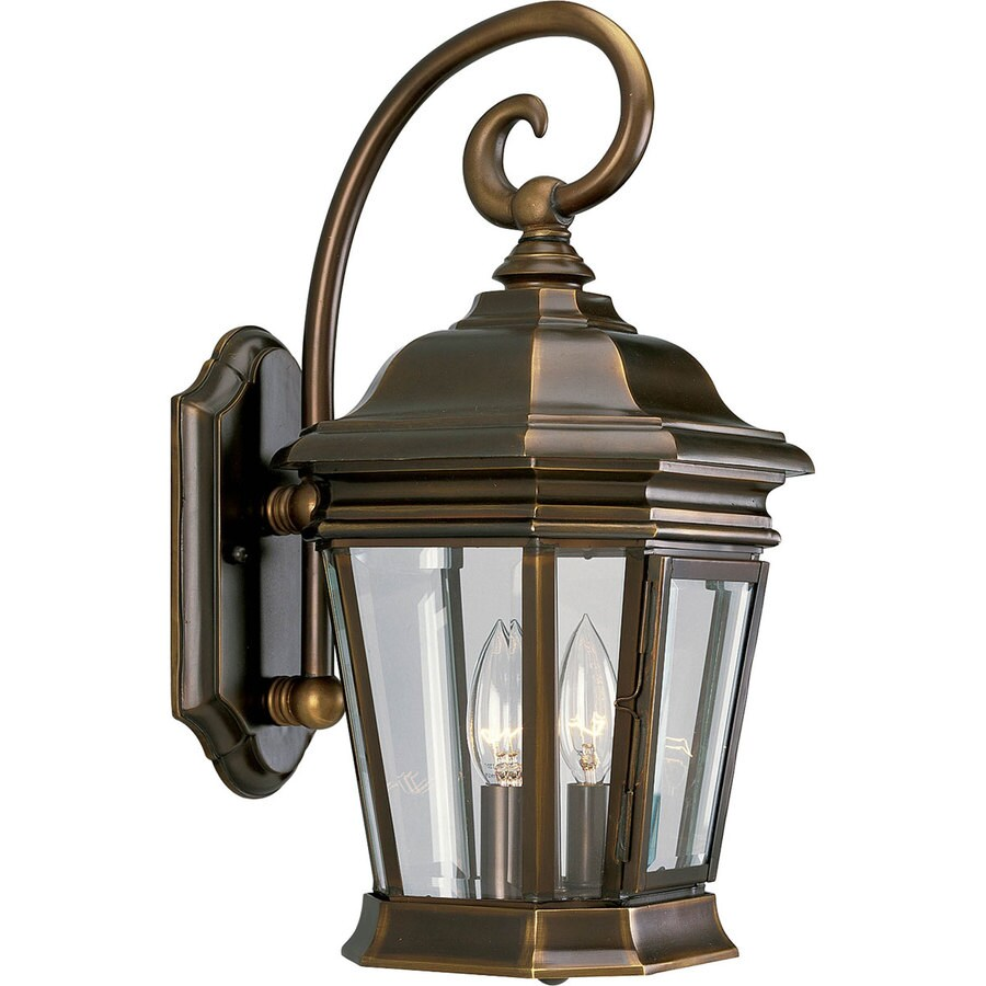 Shop Progress Lighting Crawford 16.75-in H Oil Rubbed Bronze Outdoor Wall Light at Lowes.com
