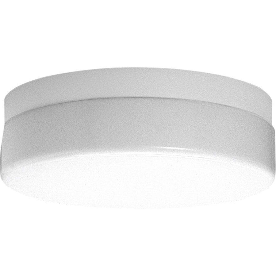 Progress Lighting Hard-Nox 13.75-in W White Outdoor Flush-Mount Light ENERGY STAR