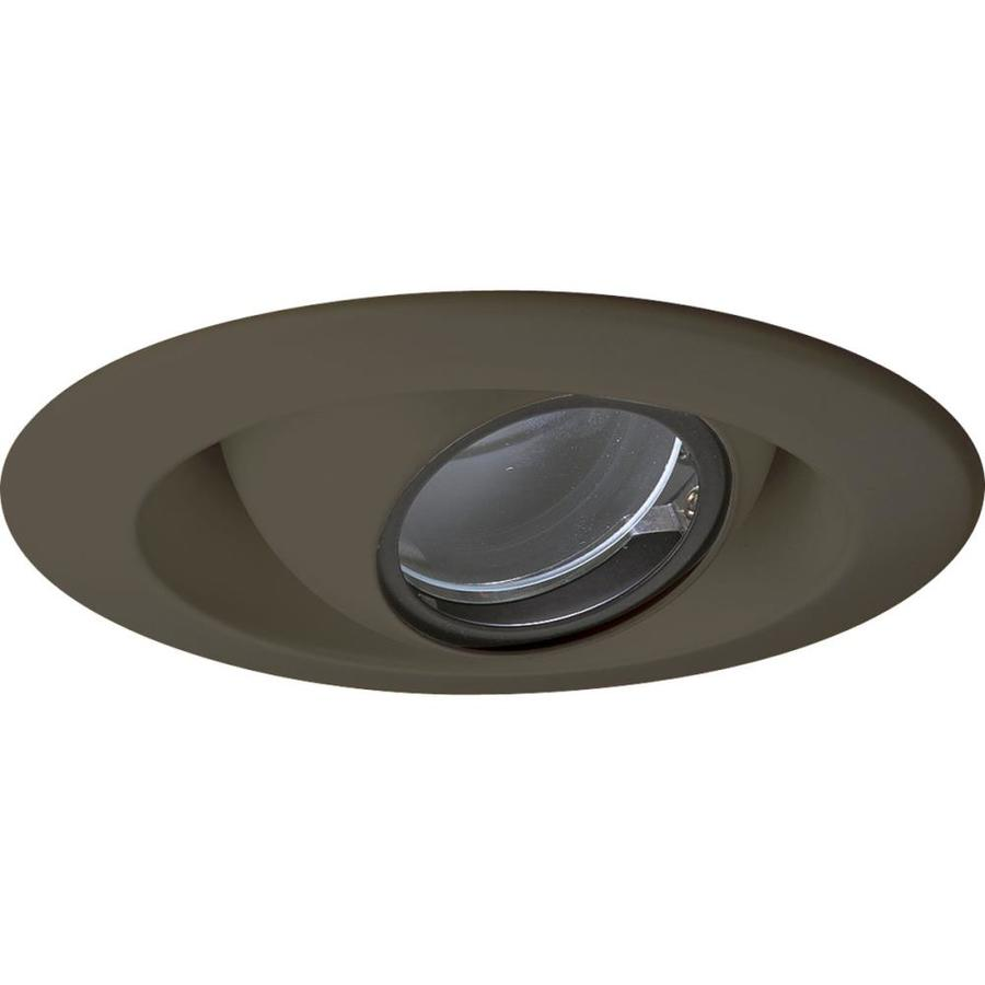 Progress Lighting Antique Bronze Eyeball Recessed Light Trim (Fits Housing Diameter: 4-in)