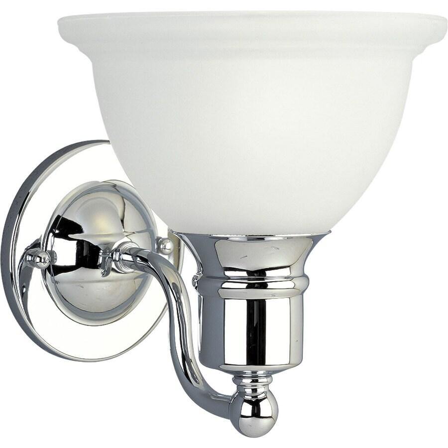 Progress Lighting Madison 1-Light 8-in Polished Chrome Bowl Vanity Light