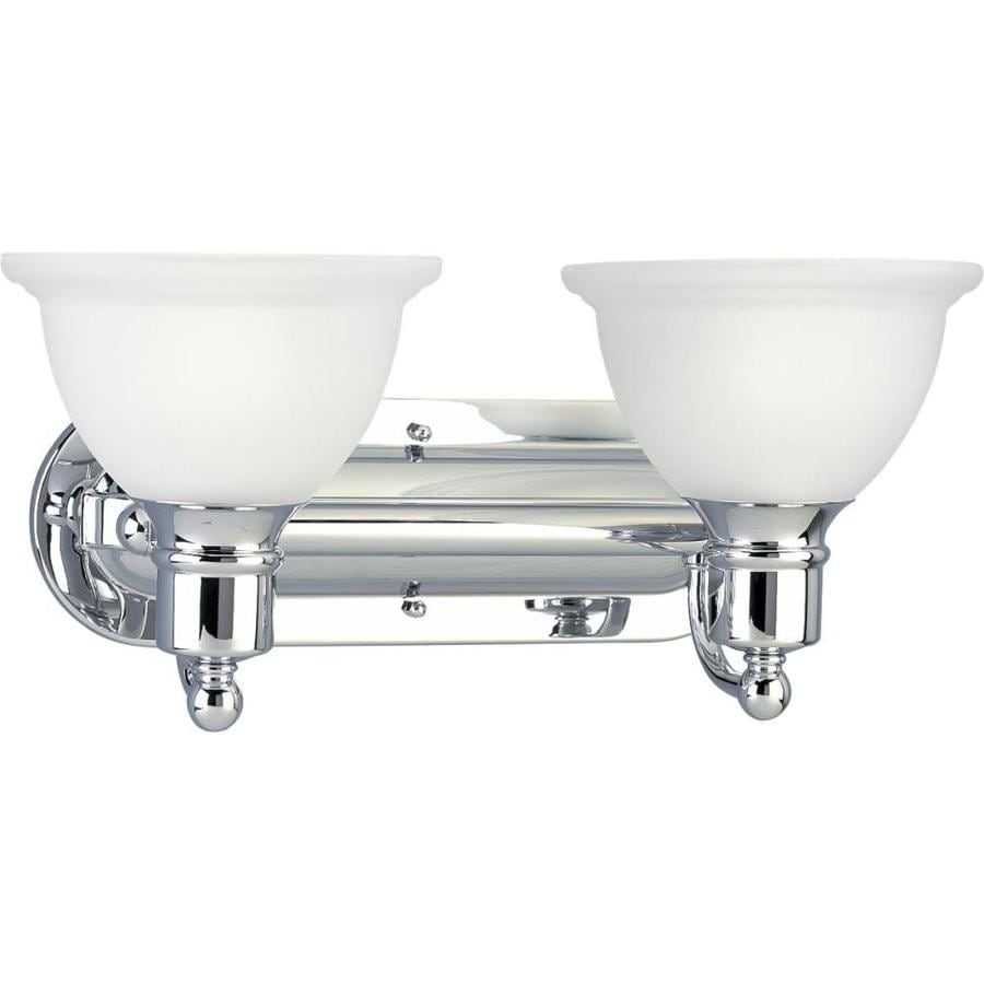 Progress Lighting Madison 2-Light 8-in Polished Chrome Bowl Vanity Light