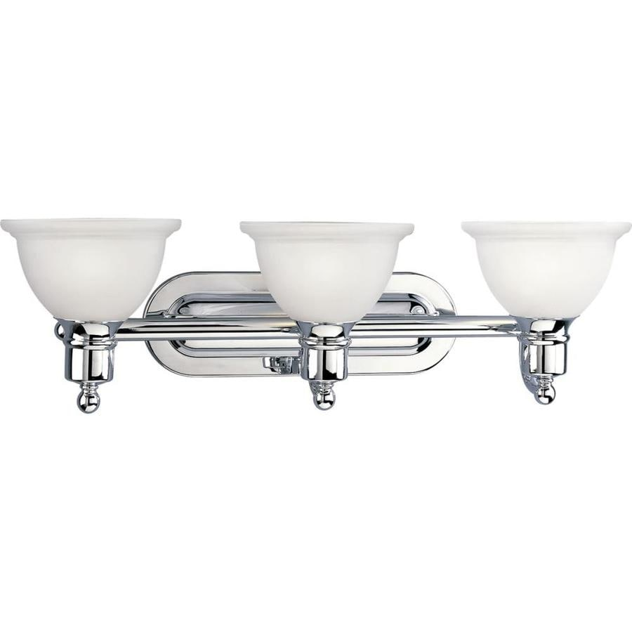 Progress Lighting Madison 3-Light Polished Chrome Bowl Vanity Light