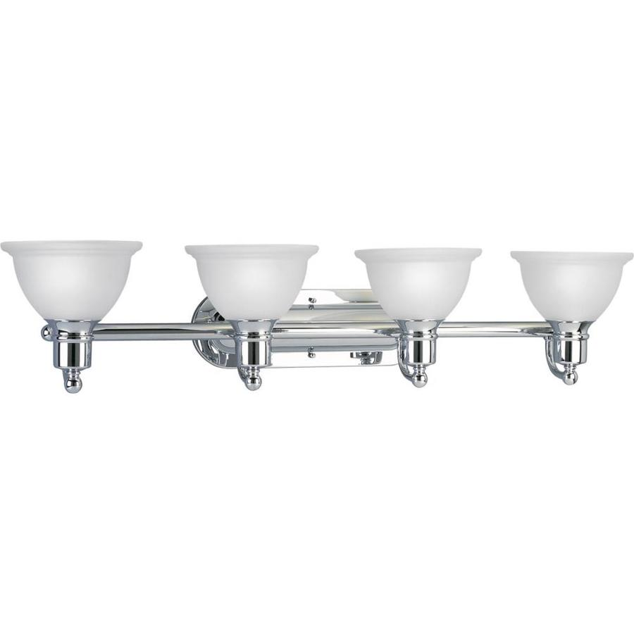Progress Lighting Madison 4-Light 8-in Polished Chrome Bowl Vanity Light