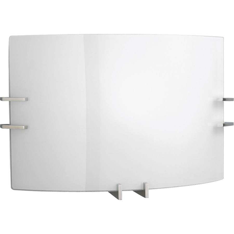 Progress Lighting 14.75-in W 2-Light Brushed Nickel Pocket Wall Sconce